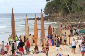 Surfing at Noosa Surf Festival
