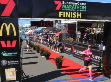 Sunshine Coast Marathon finish line