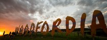 Woodford Folk Festival - Woodfordia sign