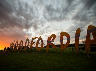 Woodford Folk Festival - Woodfordia sign