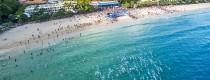 Noosa Triathlon Multi-Sport Festival - Aerial shot of beach