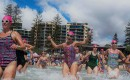 Mooloolaba Spring Swim - running into the water