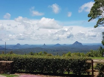 Mountain View Cafe - View to Glass House Mountains