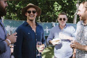 Mates Drinking Wine