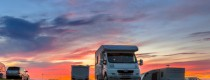 Caravan, Camping, Boating, and Fishing Expo - motor home sunset