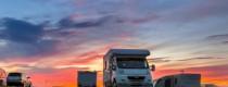 Caravan, Camping, Boating, and Fishing Expo - motor home sunset