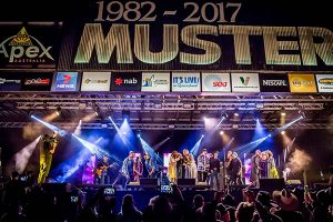 Night performance on stage at 2017 Gympie Music Muster