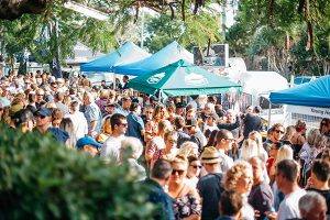 Noosa Craft Beer Festival crowds and tents
