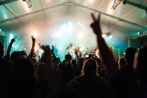 Caloundra music festival night time crowd
