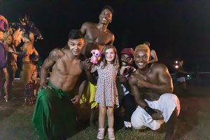circus rio performers with kids